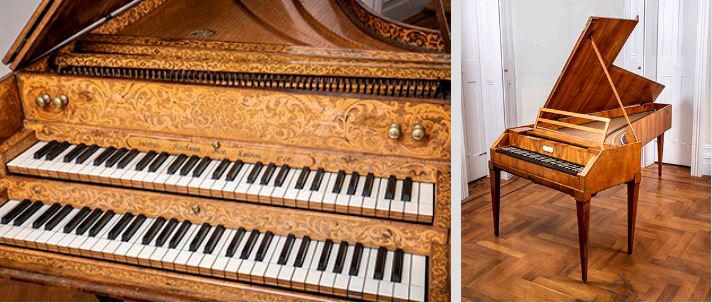 Two historic keyboards from the Richard Burnett collection, Finchcocks charity, Royal Tunbridge Wells