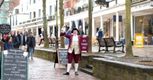Town Crier on the Pantiles in Royal Tunbridge Wells - Photo by David Hodgkinson