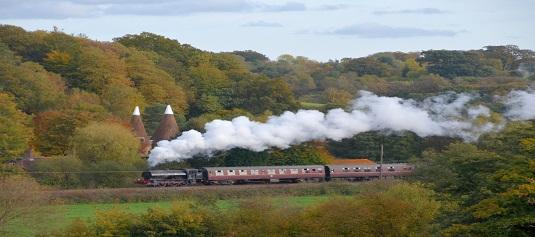 Steam Train on Spa Valley Railway