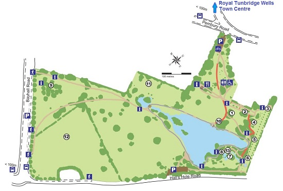 Map of Dunorlan Park