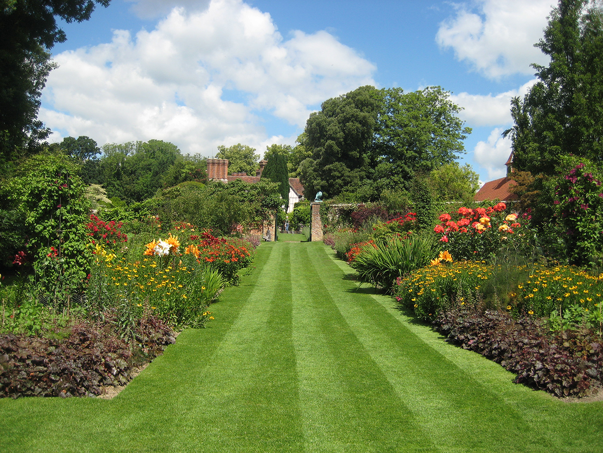 Pashley Manor Gardens, herbaceous borders, near Tunbridge Wells