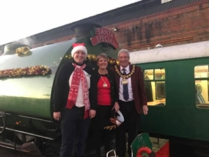 The Mayor and Mayoress at Spa Valley Railway