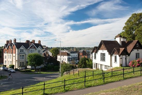 Vista of Royal Tunbridge Wells, a charming Georgian town in the Weald of Kent