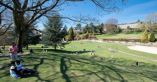 Laze about with a picnic and friends in the town centre park, Calverley Grounds, Royal Tunbridge Wells