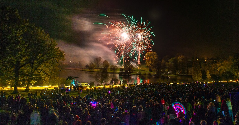 One of the most attended firework displays in the region at Dunorlan Park, Tunbridge Wells