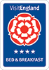 Visit England 4 star Bed and Breakfast grading