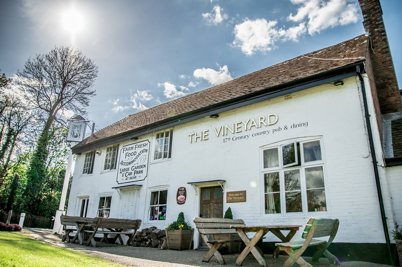 The Vineyard Pub and bed and breakfast in Lamberhurst, Tunbridge Wells