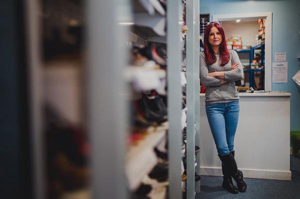 Donna Marshall @ Stampede Shoes, (c) Steve Fuller