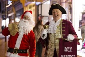 Town Crier and Father Christmas on the High Street