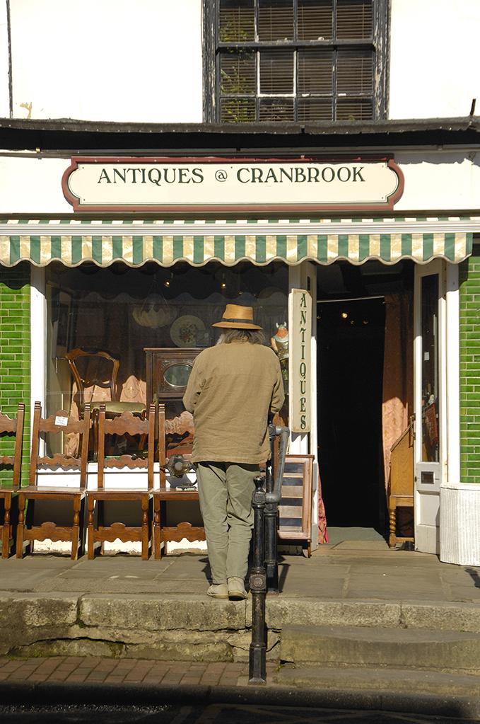 Antiques shop in Cranbrook, Kent