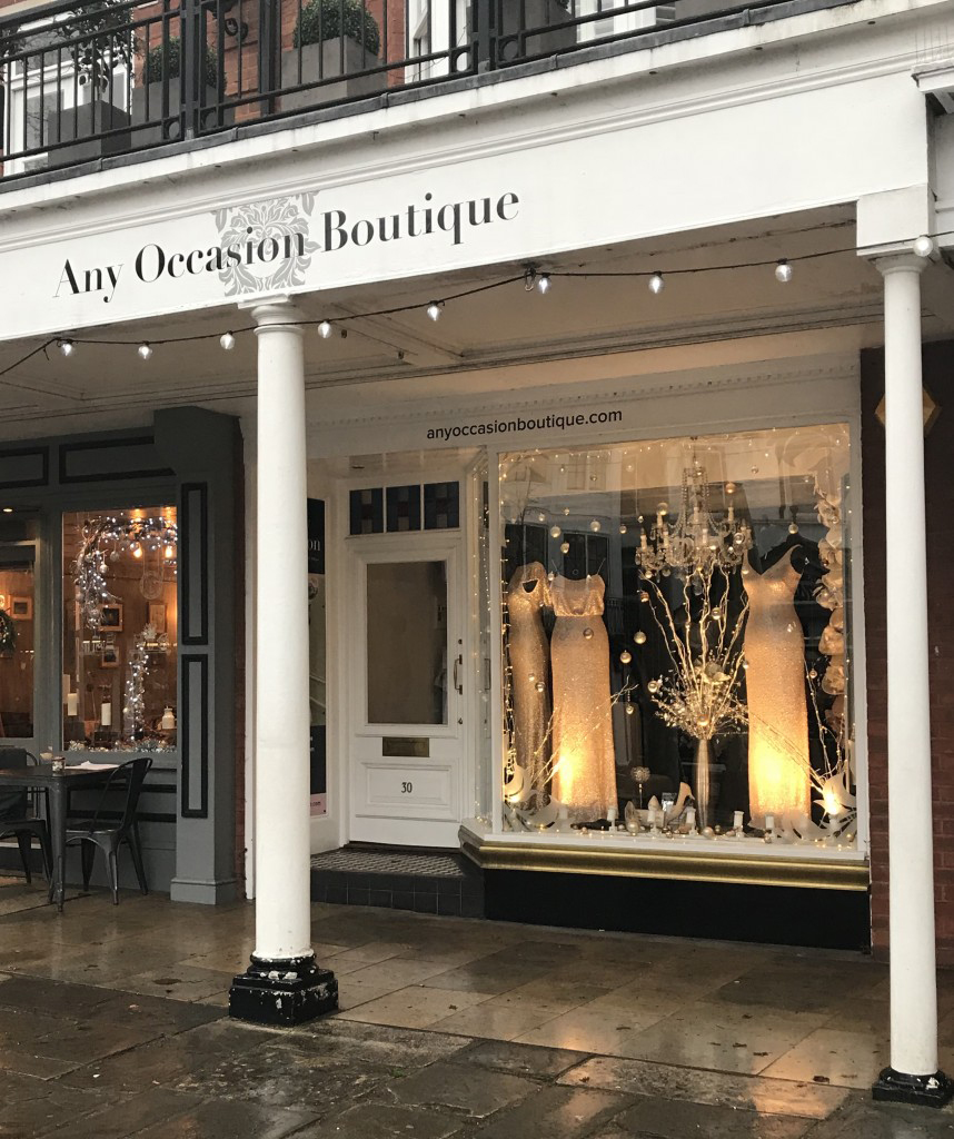 Any Occasion boutique, The Pantiles, Royal Tunbridge Wells