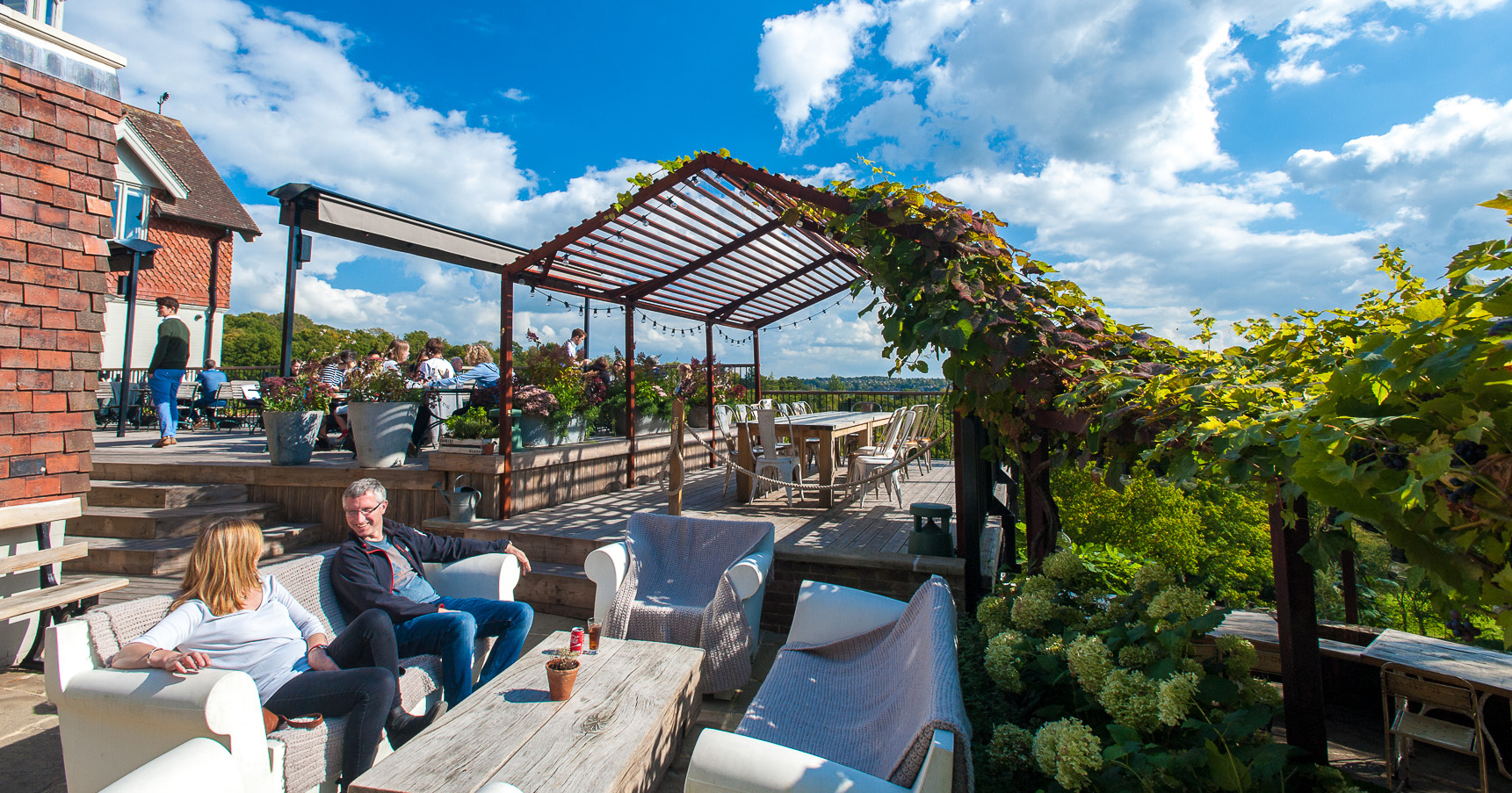 The Beacon restaurant with terrace and views, near Royal Tunbridge Wells