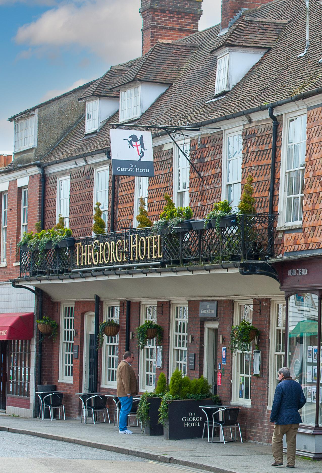 The George Hotel bar and restaurant, Cranbook, Kent