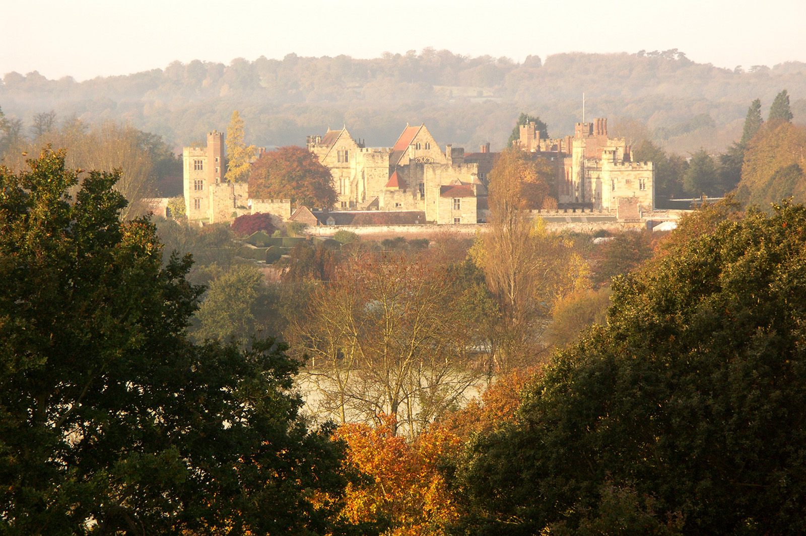 Penshurst Place in autumnal mist - courtesy of Penshurst Place