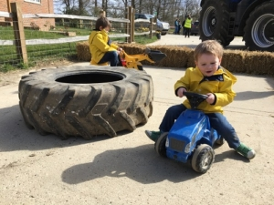 Tractor happy at Four Winds Farm | Clare Lush-Mansell