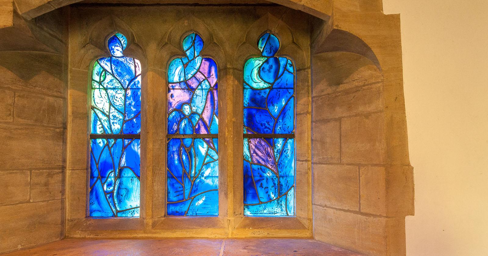Chagall Windows at Tudeley Church by David Hodgkinson
