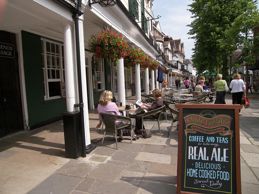 The Ragged Trousers pub, The Pantiles, Royal Tunbridge Wells
