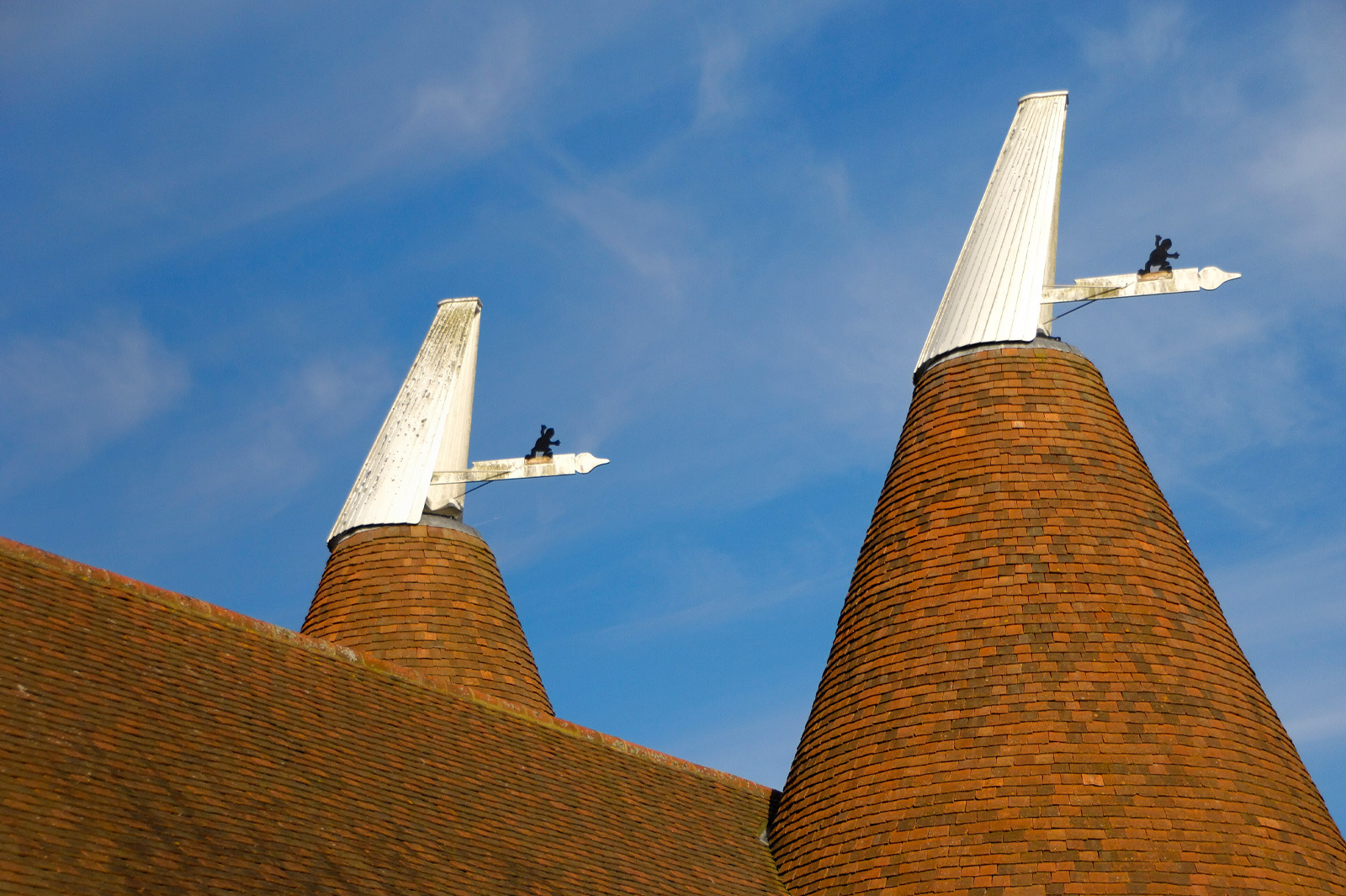 Typical Oast House Roofs - photo by Mike Bartlett