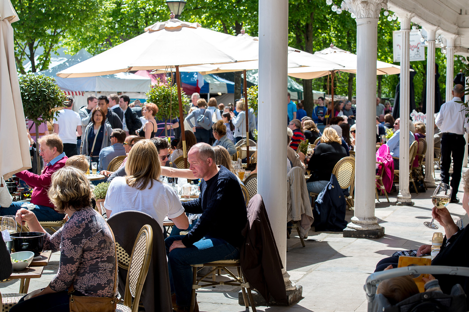 Eating al fresco in The Pantiles is glorious - photo by David Hodgkinson