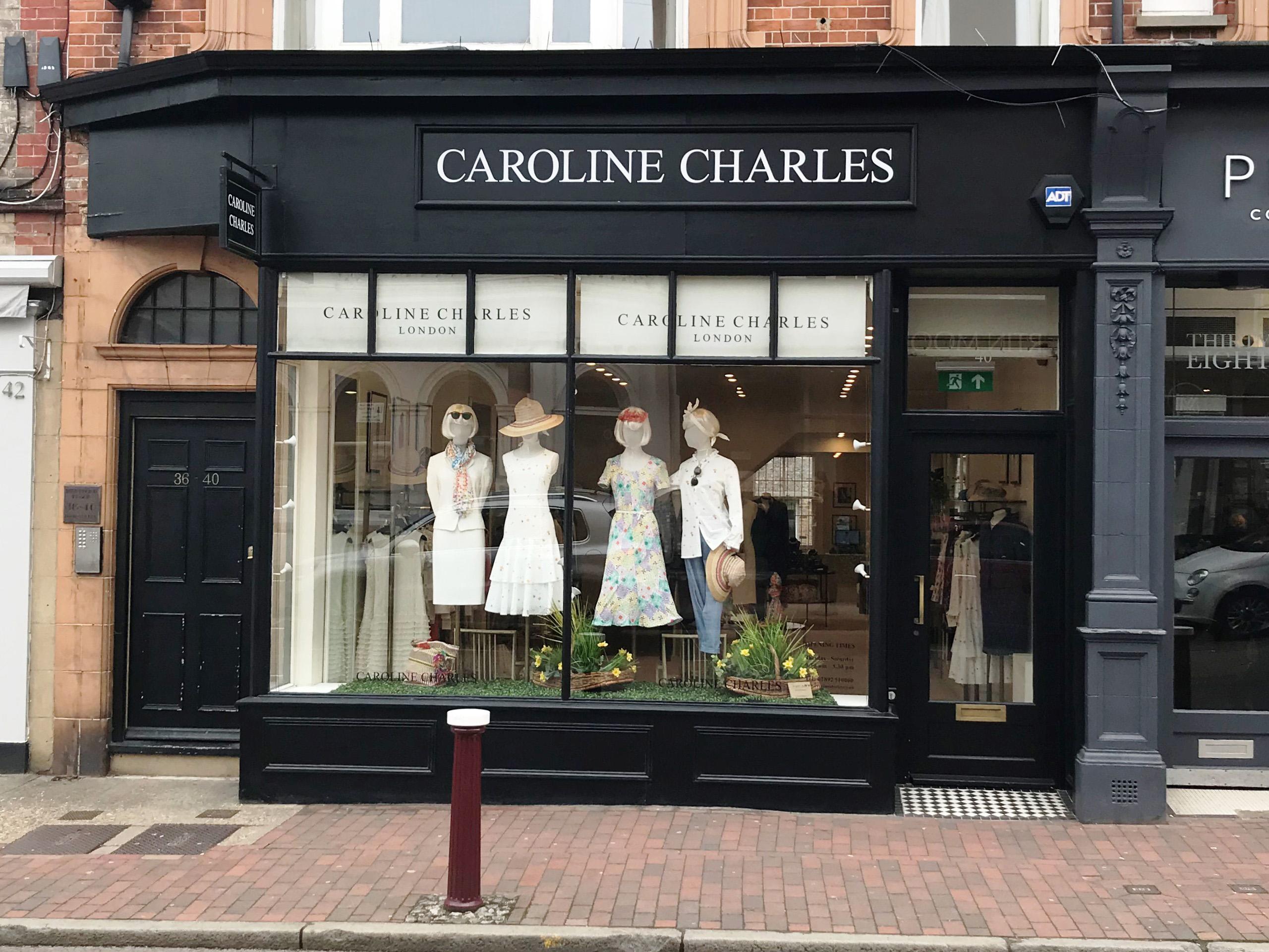 Caroline Charles designer fashionwear, Royal Tunbridge Wells