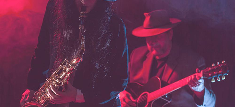 Sax and Guitar at Jazz on the Pantiles