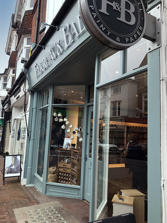 Farrow and Ball showroom, Royal Tunbridge Wells