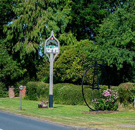 Iron penny farthing by Cranbrook Iron