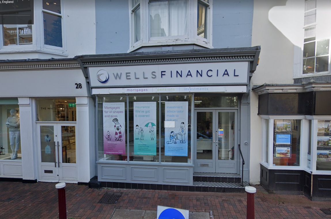 Image of Wells Financial Ltd front of store