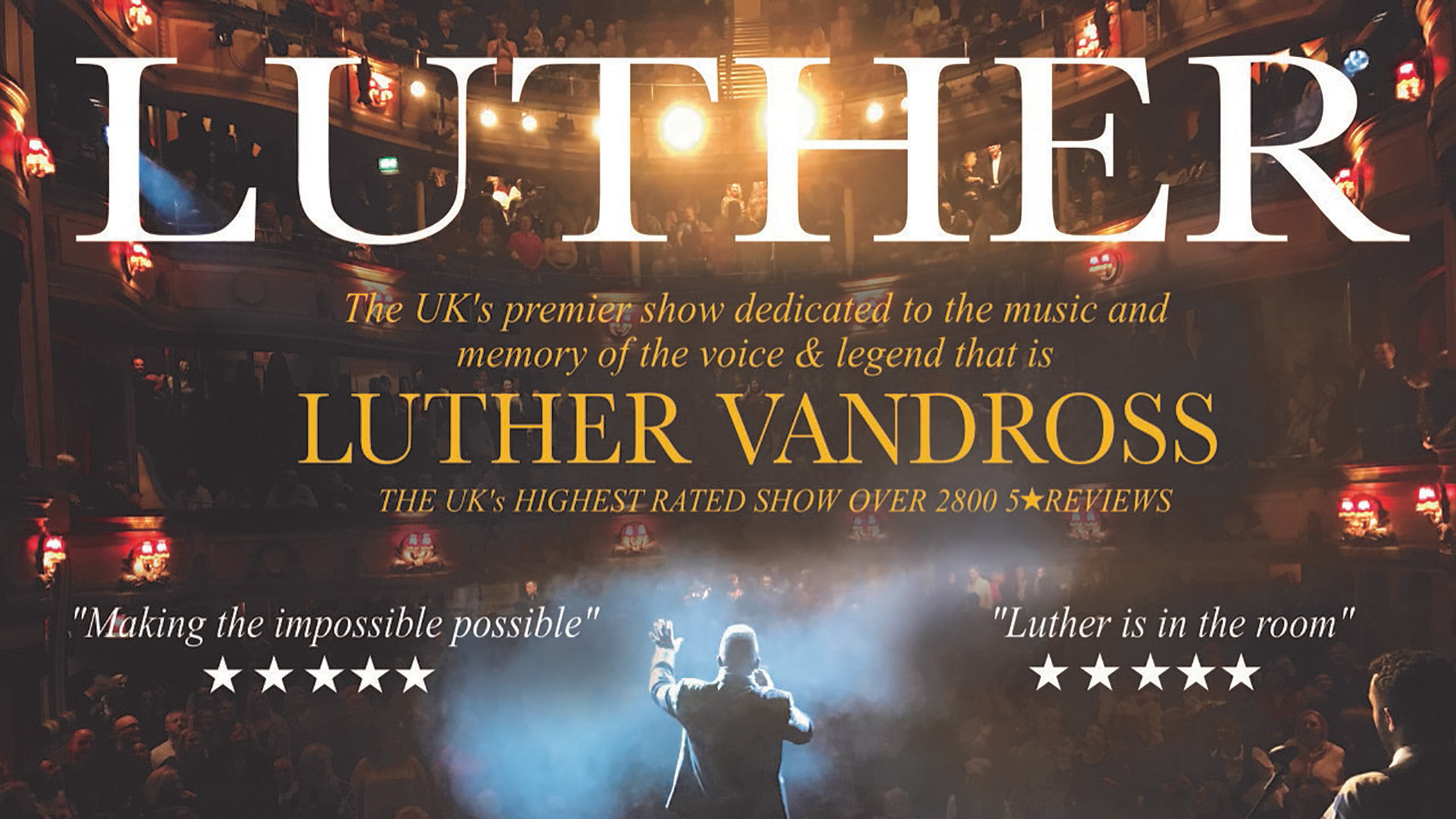 Image of Luther Vandross Celebration poster