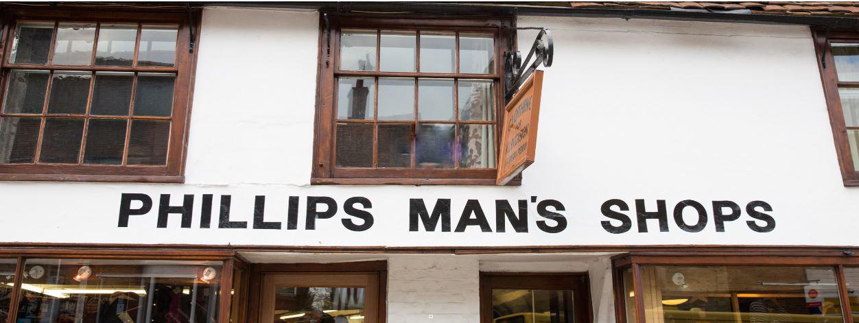 Phillips Mans shop, Cranbrook. Kent