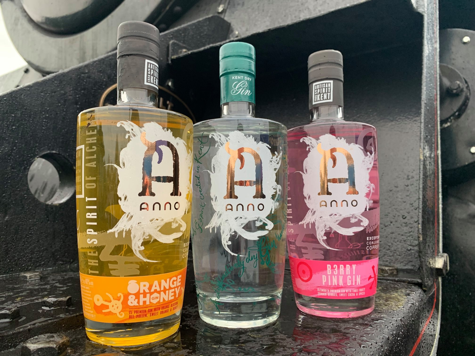 Image of Anno Distillery gins on the Kent Gin Train at The Spa Valley Railway