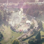Local and Live aerial shot of Calverley Grounds in Royal Tunbridge Wells