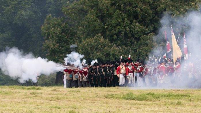 Napoleonic Re-enactments at Hole Park, Tunbridge Wells