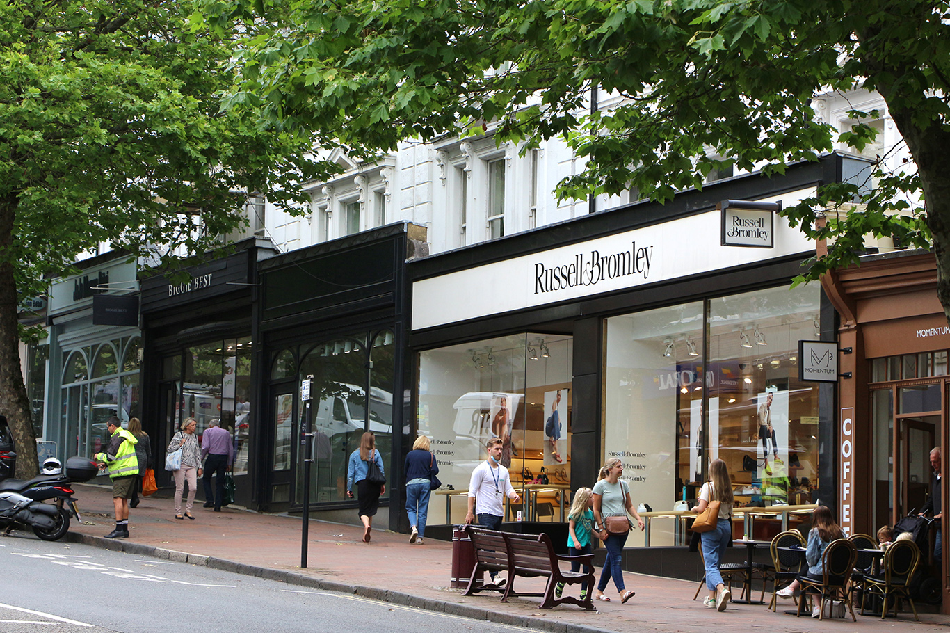 Russell and Bromley shoe shop, Royal Tunbridge Wells