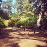 Influencer Katy Towse mintrainbow_mama for insta story at Bedgebury Pinetum