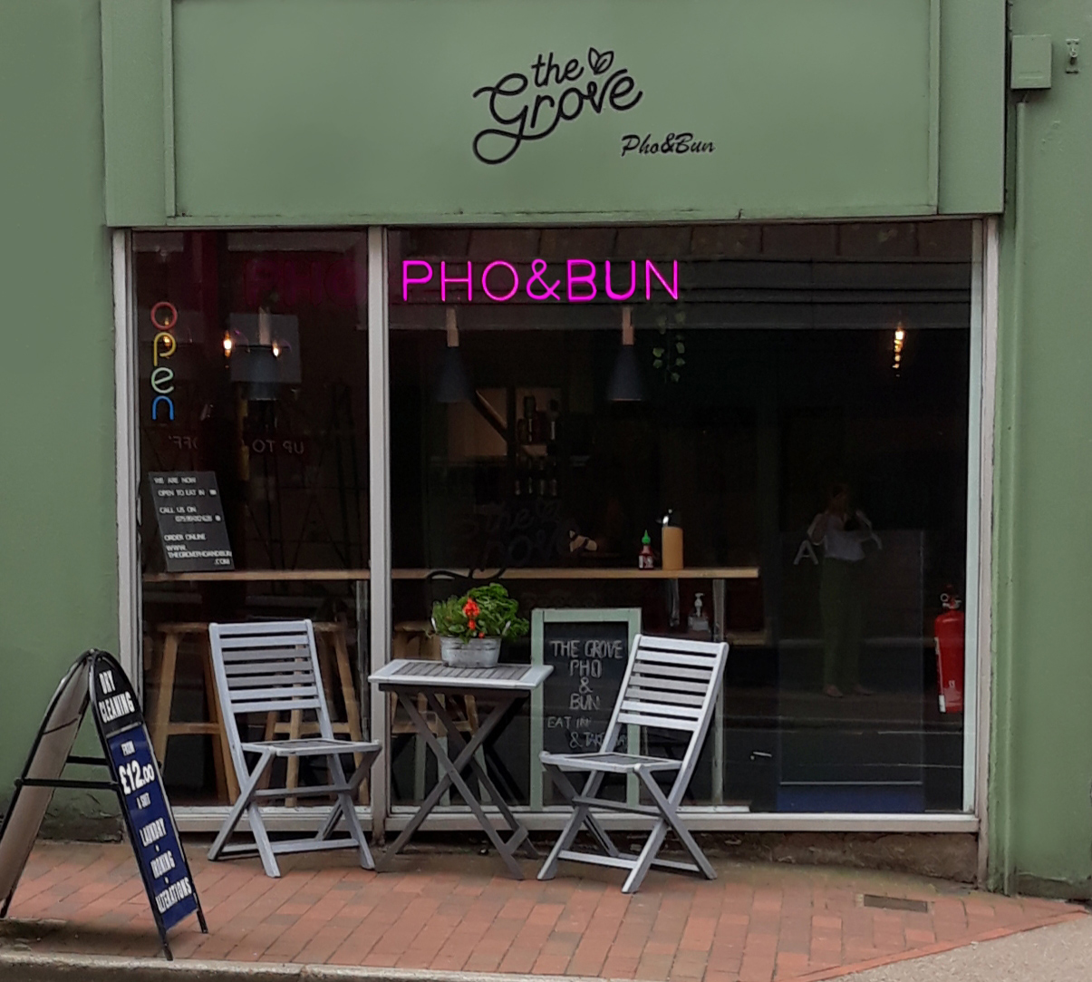 Pho and Bun cafe restaurant store front, Royal Tunbridge Wells