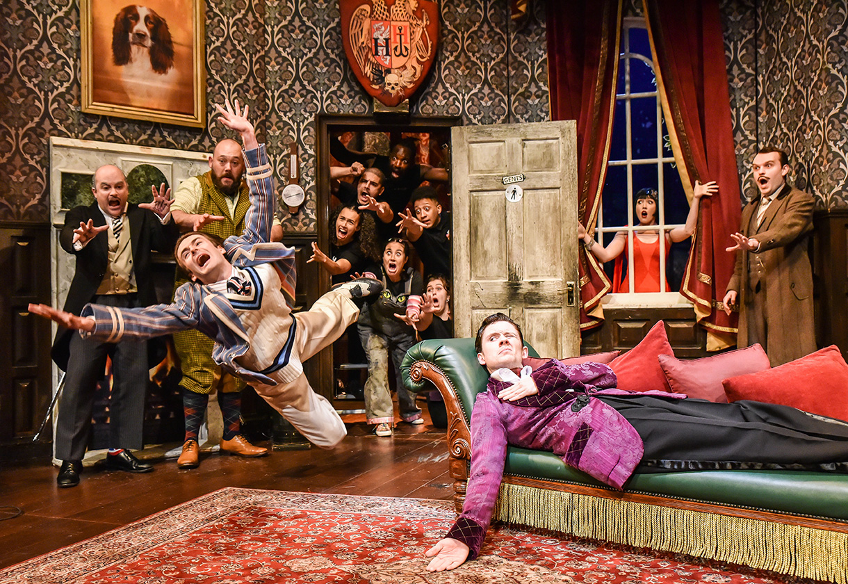 Cast of play that goes wrong on stage