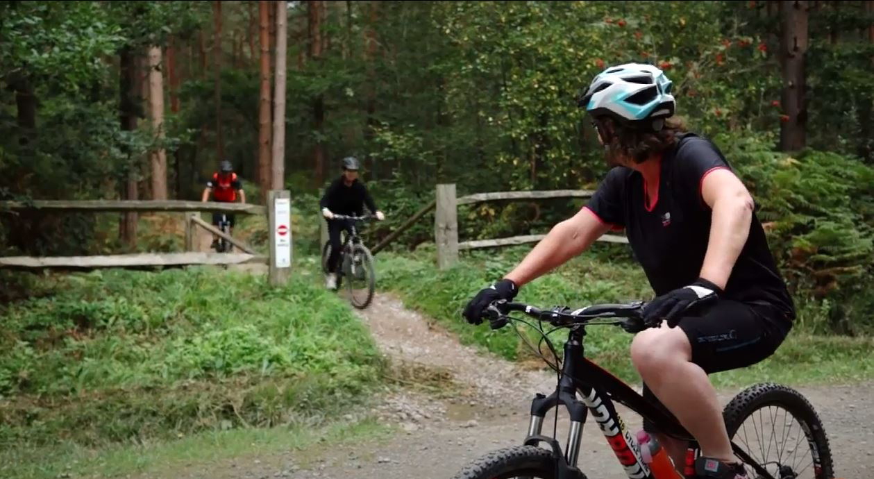 Quench Cycles - 3 cyclists in Bedgebury Forest, Tunbridge Wells