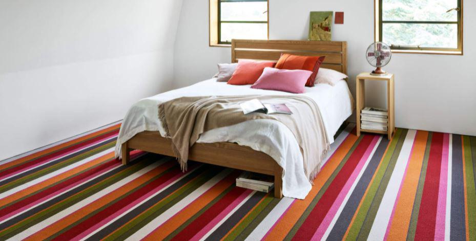 Striped carpet from Sunniva carpets shop in Royal Tunbidge Wells